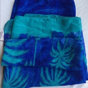ALWAYS FOR ME SARONG BLUE/GREEN SHEER O/S